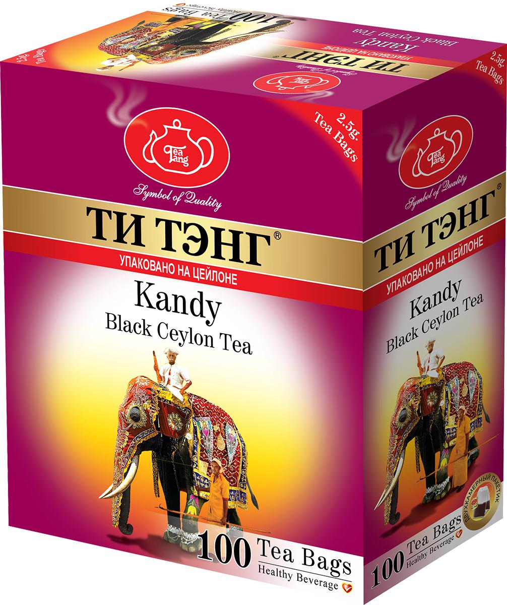 Tea Tang Канди черный чай в пакетиках, 100 шт101750Древняя столица Цейлона город Канди - удивительно колоритная часть острова, где сохранились древние традиции и культура. Здесь на цветущих холмах на высоте 2000 - 4000 футов над уровнем моря выращивают удивительный чай Канди, который обладает выразительным, насыщенным вкусом и настоем чуть красноватого оттенка.