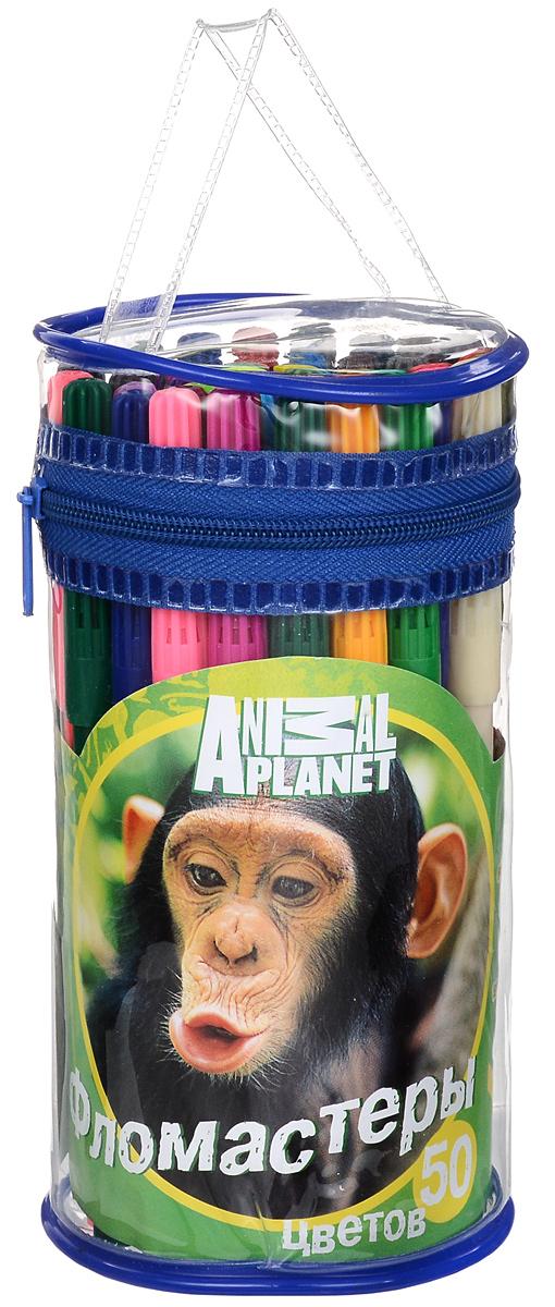 Action! Набор фломастеров Animal Planet Обезьяна 50 цветов AP-AWP105-50_обезьяна