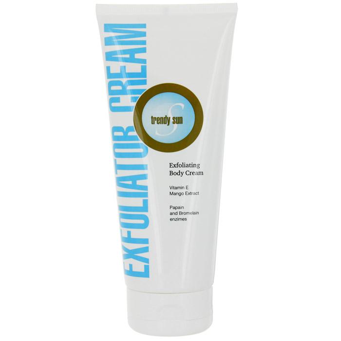 Крем-пилинг для тела Trendy Sun, нежный, 200 мл2095Нежный крем-пилинг для тела Trendy Sun с энзимами эффективно отшелушивает и освежает кожу. очищает поры, способствует обновлению клеток кожи, придавая ей мягкость и здоровый блеск. Мягкие скрабирующие частицы нежно удаляют омертвевшие клетки. Фруктовые энзимы папаин и бромелайн расщепляют белок кератин, ускоряя отслаивание ороговевших клеток кожи. Витамин Е и экстракт плодов манго обеспечивают дополнительное увлажнение и питание. Крем-пилинг подходит для всех типов кожи. Усиливает эффект последующих процедур.
