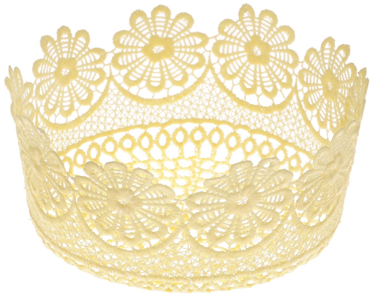 Корзина декоративная Home Queen Ромашки, цвет: желтый, диаметр 17 см64338_2Декоративная ажурная корзина Home Queen Ромашки, выполненная из полиэстера, предназначена для хранения различных мелочей и аксессуаров, также отлично подойдет для пасхальных яиц и кулича. Изделие имеет жесткую форму. Такая корзина станет оригинальным украшением интерьера к Пасхе.