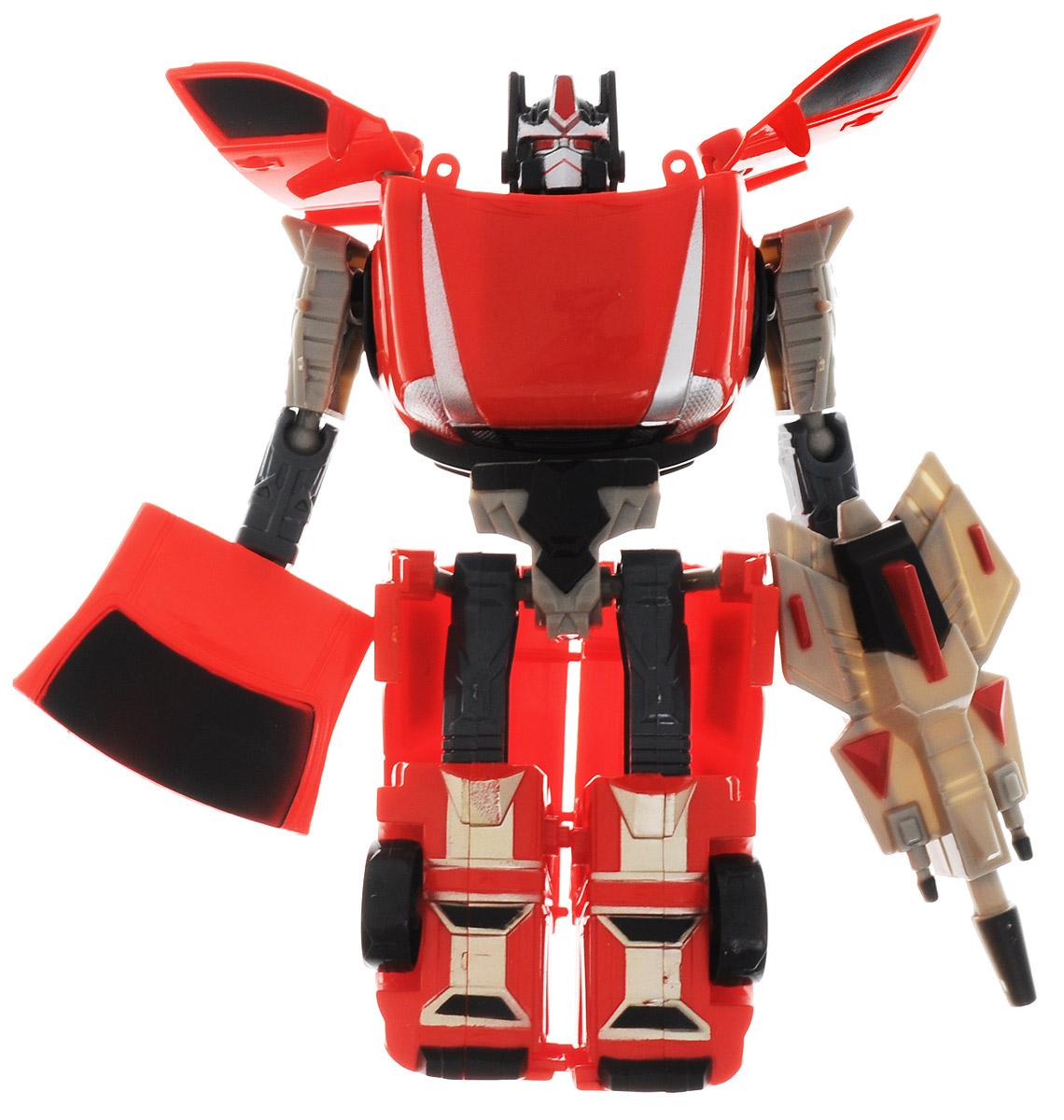 Able Star Робот-трансформер Inter Change10791_красный, серыйРобот-трансформер Able Star Inter Change может всего за несколько движений превратиться в легковой автомобиль, ни чем не выдающий свое внутреннее содержимое. У такого робота сгибаются в суставах руки и ноги, благодаря чему он может принимать различные позы во время сражений. Каждый такой робот-трансформер имеет свое собственное вооружение в виде пусковой ракетной установки, которое удерживает в одной руке, а часть элемента кузова автомобиля выполняет защитную функцию щита. Сделайте вашему ребенку такой замечательный подарок!