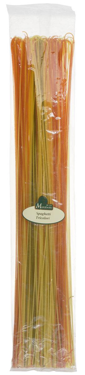 Marabotto Спагетти длинные триколор макароны, 500 г
