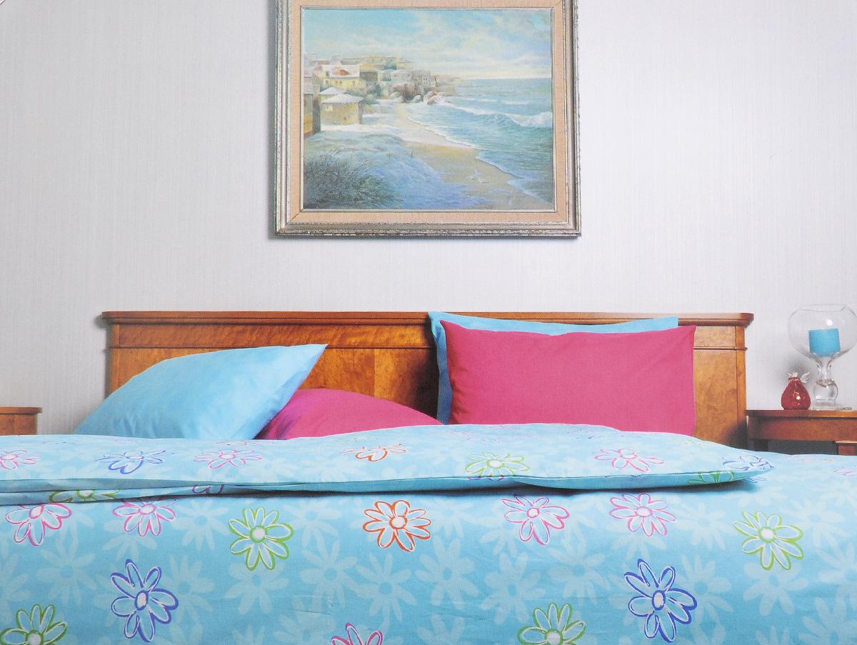 Комплект белья Brielle, 1,5-спальный, наволочка 50х70, цвет: лазурный (107)3001BrРоскошный комплект постельного белья Brielle выполнен из натурального ранфорса (100% хлопка) и украшен оригинальным рисунком. Комплект состоит из пододеяльника, простыни и наволочки. Ранфорс - это новая современная гипоаллергенная ткань из натуральных хлопковых волокон, которая прекрасно впитывает влагу, очень проста в уходе, а за счет высокой прочности способна выдерживать большое количество стирок. Высочайшее качество материала гарантирует безопасность. Доверьте заботу о качестве вашего сна высококачественному натуральному материалу.