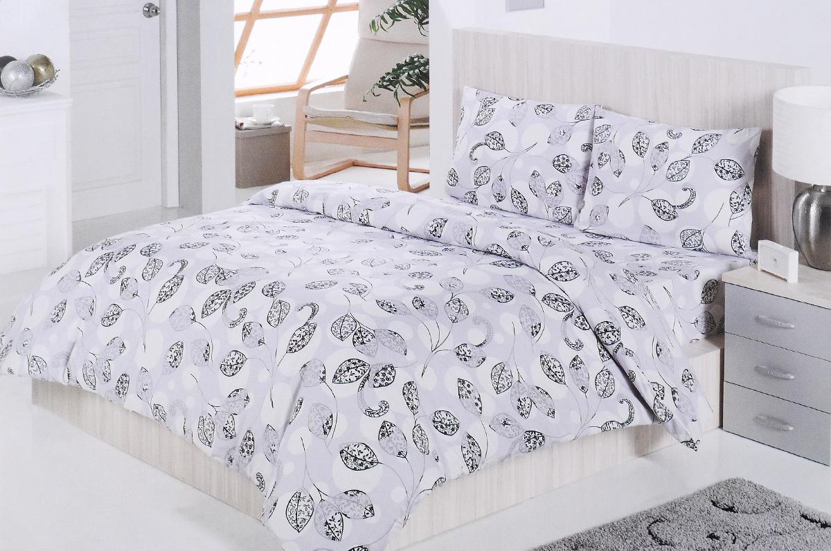 Комплект белья Brielle, 1,5-спальный, наволочка 50х70, цвет: белый, серый, черный (164)3001BrРоскошный комплект постельного белья Brielle выполнен из натурального ранфорса (100% хлопка) и украшен оригинальным рисунком. Комплект состоит из пододеяльника, простыни и наволочки. Ранфорс - это новая современная гипоаллергенная ткань из натуральных хлопковых волокон, которая прекрасно впитывает влагу, очень проста в уходе, а за счет высокой прочности способна выдерживать большое количество стирок. Высочайшее качество материала гарантирует безопасность. Доверьте заботу о качестве вашего сна высококачественному натуральному материалу.
