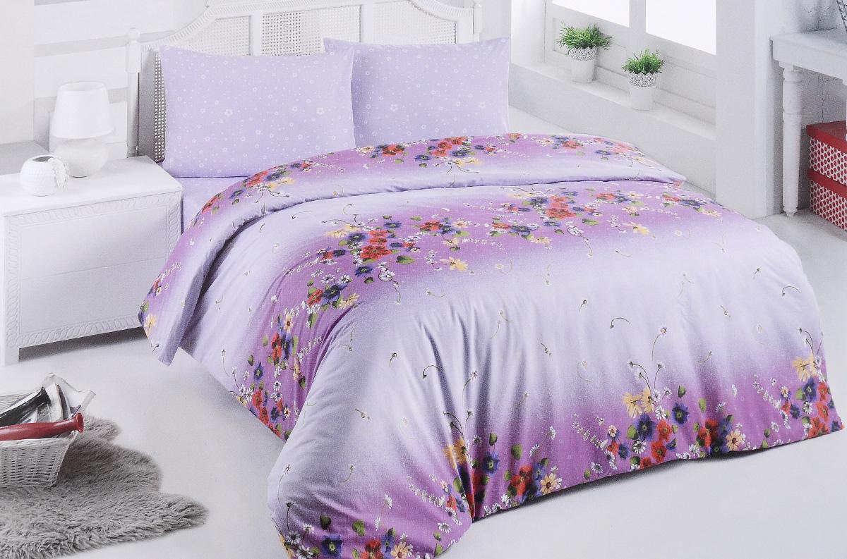 Комплект белья Brielle, 1,5-спальный, наволочка 50х70, цвет: сиреневый, фуксия (305 V2)1108Роскошный комплект постельного белья Brielle выполнен из натурального ранфорса (100% хлопка) и украшен оригинальным рисунком. Комплект состоит из пододеяльника, простыни и наволочки. Ранфорс - это новая современная гипоаллергенная ткань из натуральных хлопковых волокон, которая прекрасно впитывает влагу, очень проста в уходе, а за счет высокой прочности способна выдерживать большое количество стирок. Высочайшее качество материала гарантирует безопасность. Доверьте заботу о качестве вашего сна высококачественному натуральному материалу.