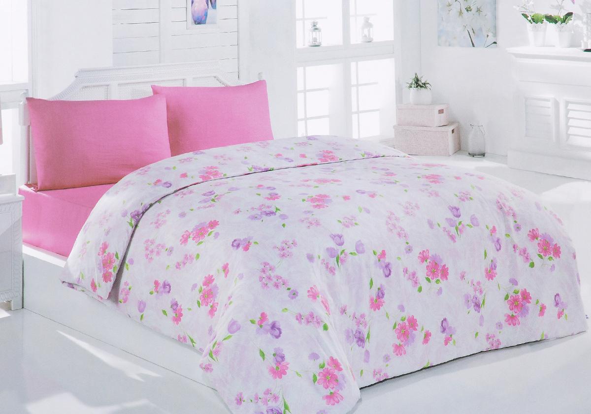 Комплект белья Brielle, 1,5-спальный, наволочка 50х70, цвет: светло-розовый (133)3001BrРоскошный комплект постельного белья Brielle выполнен из натурального ранфорса (100% хлопка) и украшен оригинальным рисунком. Комплект состоит из пододеяльника, простыни и наволочки. Ранфорс - это новая современная гипоаллергенная ткань из натуральных хлопковых волокон, которая прекрасно впитывает влагу, очень проста в уходе, а за счет высокой прочности способна выдерживать большое количество стирок. Высочайшее качество материала гарантирует безопасность. Доверьте заботу о качестве вашего сна высококачественному натуральному материалу.