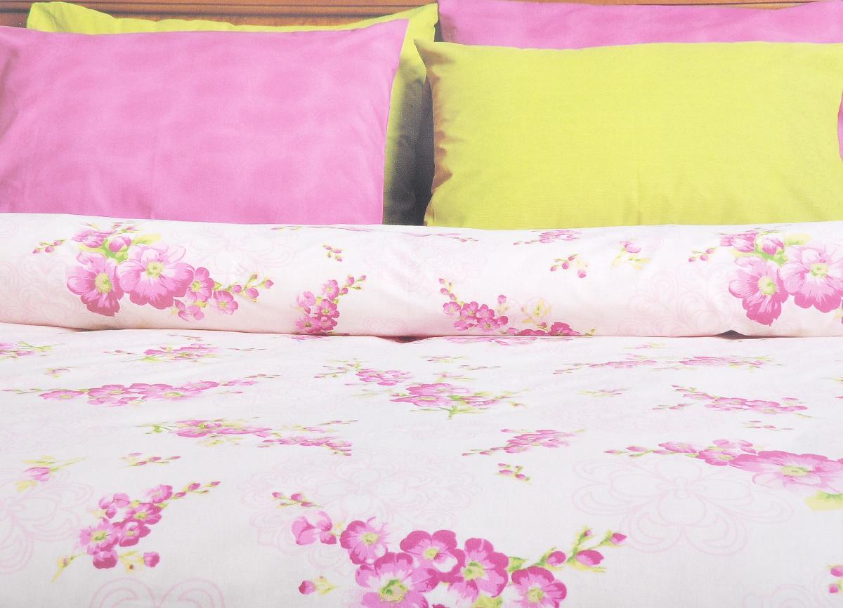 Комплект белья Brielle, 1,5-спальный, наволочка 50х70, цвет: белый, розовый (117)3001BrРоскошный комплект постельного белья Brielle выполнен из натурального ранфорса (100% хлопка) и украшен оригинальным рисунком. Комплект состоит из пододеяльника, простыни и наволочки. Ранфорс - это новая современная гипоаллергенная ткань из натуральных хлопковых волокон, которая прекрасно впитывает влагу, очень проста в уходе, а за счет высокой прочности способна выдерживать большое количество стирок. Высочайшее качество материала гарантирует безопасность. Доверьте заботу о качестве вашего сна высококачественному натуральному материалу.