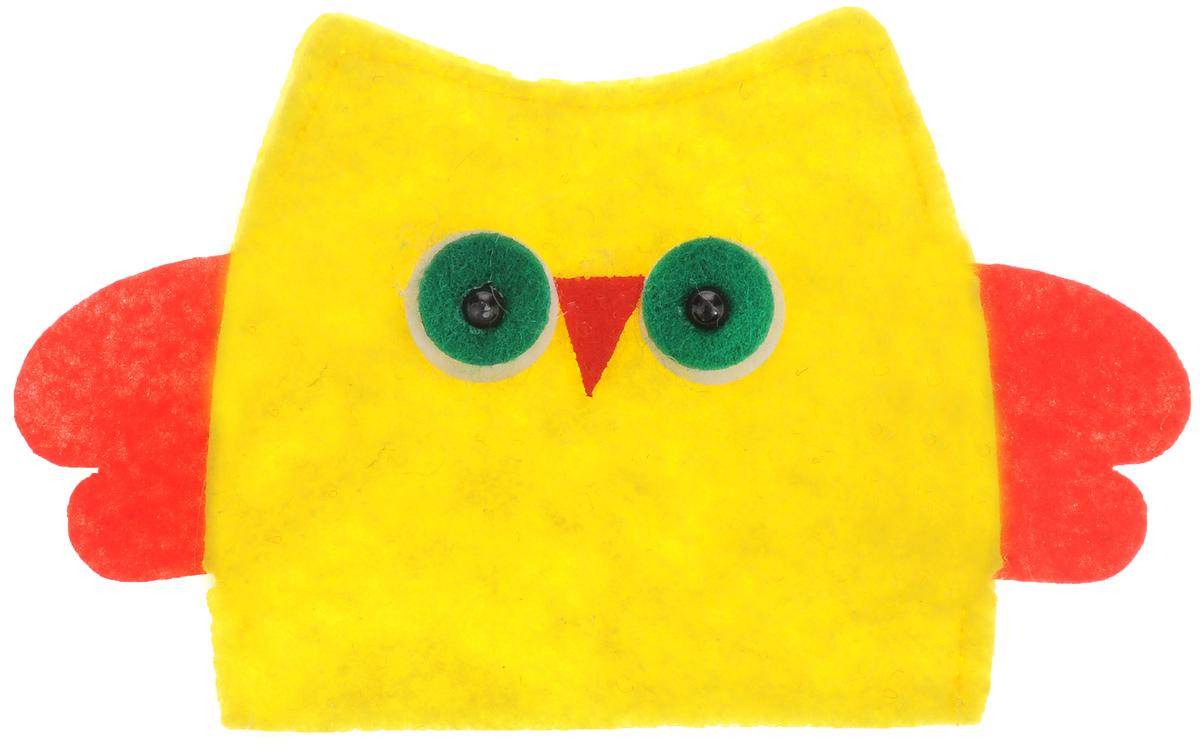 Грелка для яйца декоративная Home Queen Сова, цвет: желтый, красный, 13,5 х 8,5 см64521_4Декоративная грелка для яйца Home Queen Сова изготовлена из фетра. Мягкая и приятная на ощупь, грелка внесет частичку тепла и веселья в ваш дом, а также станет замечательным подарком для друзей и близких.