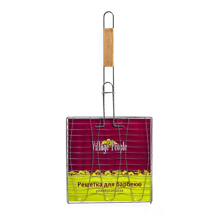 Решетка для барбекю Village people Комфорт, 61,5х28х1,5 см, цвет: стальной. 6477864778