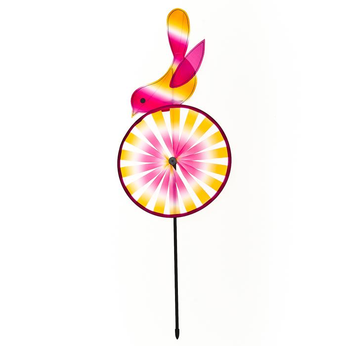 Декоративная фигура-вертушка Village people Птичка на шаре, цвет: желтый. 66934_366934-3
