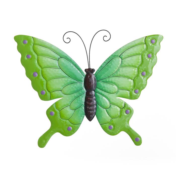 Настенное декоративное украшение Wall Art Village people Райские бабочки, цвет: зеленый. 67255_267255-2