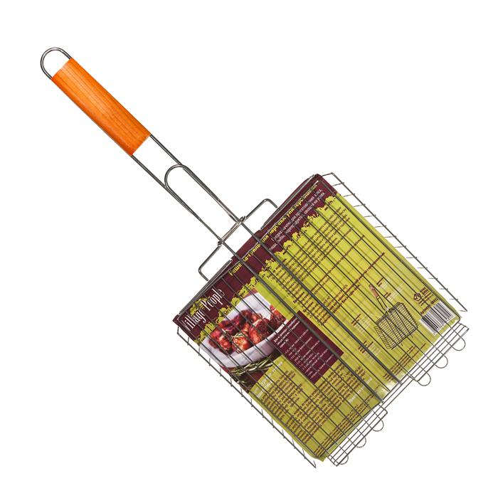 Решетка-гриль для барбекю Village people универсальная, 25х25(55)х5см, цвет: стальной. 6843268432