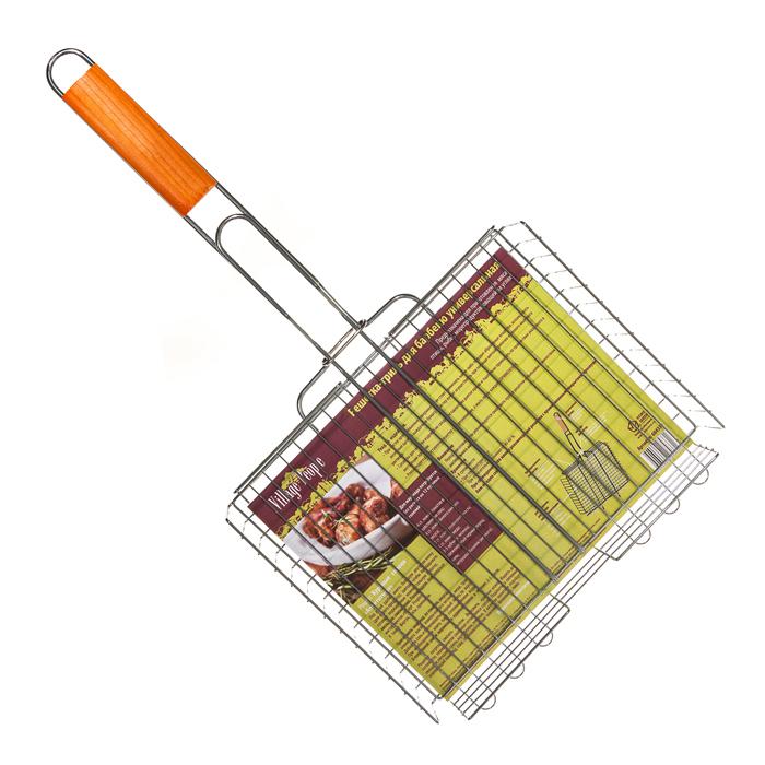 Решетка-гриль для барбекю универсальная Village people, 30х24(54)х5см, цвет: стальной. 6843368433