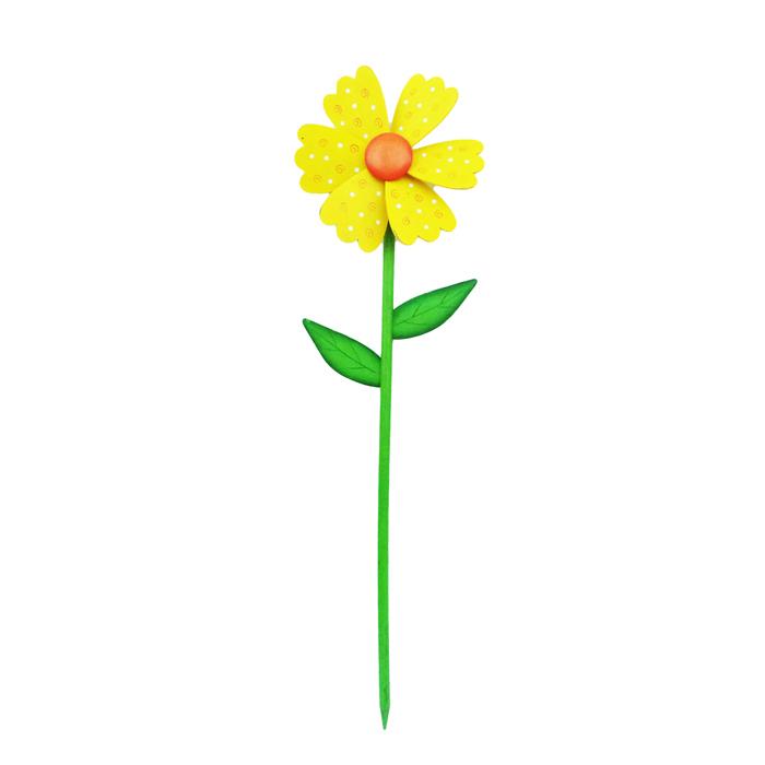 Декоративная фигура-вертушка Village people Цветник, цвет: желтый. 68457_168457-1