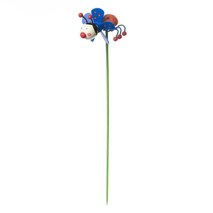 Декоративная фигура-вертушка Village people Сидящая божья коровка, 6,5х5х5(30)см, цвет: синий. 68458_368458-3
