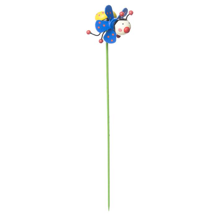 Декоративная фигура-вертушка Village people Летящая божья коровка, 7,5х5х5(30,5)см, цвет: синий. 68460_168460-1