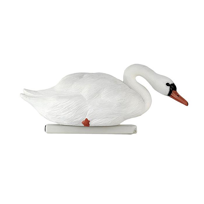 Фигура декоративная для водоемов Village people Отдыхающий лебедь, цвет: белый. 6850468504Фигура декоративная украсит Ваш бассейн