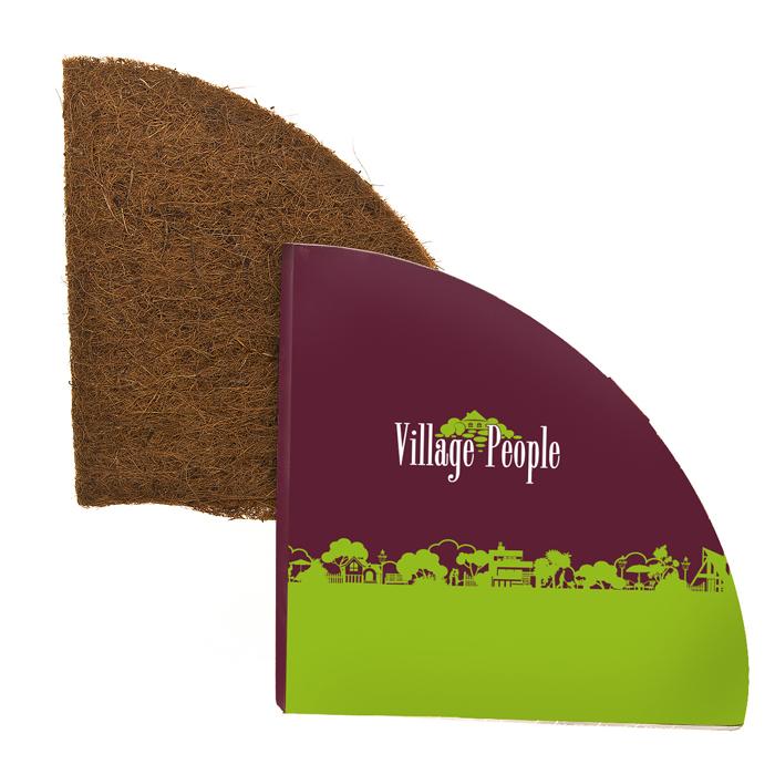 Вкладка для кашпо под цветы Village people толщиной 5-6мм, диаметр 78,74см, цвет: коричневый. 6879468794