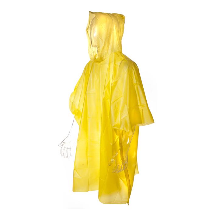 "Дождевик-пончо ""Village people"", 103х126см, 200/20, цвет: желтый. 70001 ( 70001 )"