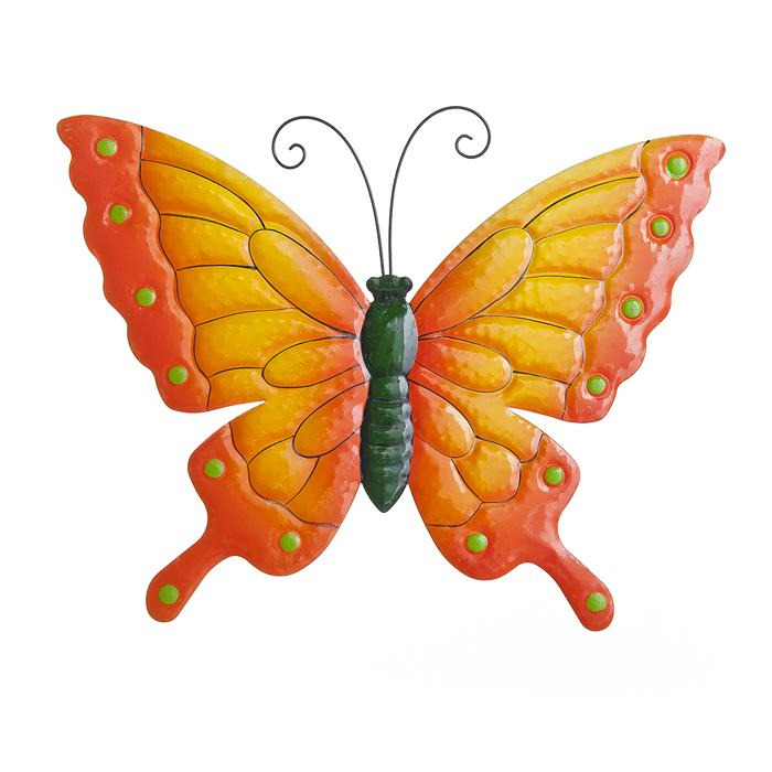 """Настенное декоративное украшение Wall Art Village people """"Райские бабочки"""", цвет: оранжевый. 67255_ 1"""