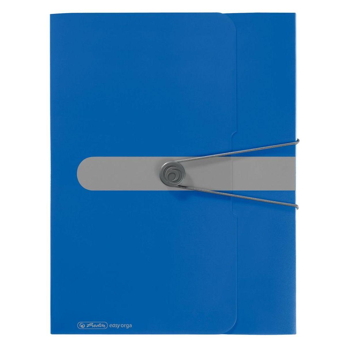 Herlitz Папка-конверт Easy orga to go цвет синий11206125Папка-конверт Herlitz Easy orga to go станет вашим верным помощником дома и в офисе. Это удобный и функциональный инструмент, предназначенный для хранения и транспортировки больших объемов рабочих бумаг и документов формата А4. Папка изготовлена из износостойкого пластика и качественного полипропилена. Состоит из одного вместительного отделения. Закрывается папка при помощи резинки, а на корешке папки есть ярлычок. Папка - это незаменимый атрибут для любого студента, школьника или офисного работника. Такая папка надежно сохранит ваши бумаги и сбережет их от повреждений, пыли и влаги.