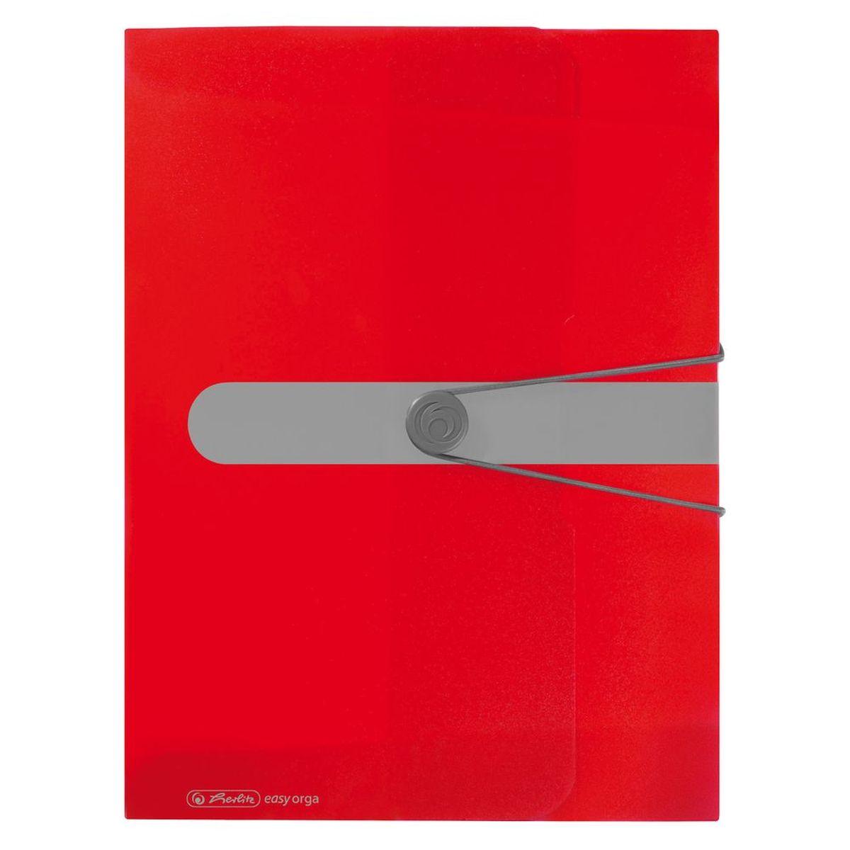 Herlitz Папка-конверт Easy orga to go цвет красный11206158Папка-конверт Herlitz Easy orga to go станет вашим верным помощником дома и в офисе. Это удобный и функциональный инструмент, предназначенный для хранения и транспортировки больших объемов рабочих бумаг и документов формата А4. Папка изготовлена из износостойкого пластика и качественного полипропилена. Состоит из одного вместительного отделения. Закрывается папка при помощи резинки, а на корешке папки есть ярлычок. Папка - это незаменимый атрибут для любого студента, школьника или офисного работника. Такая папка надежно сохранит ваши бумаги и сбережет их от повреждений, пыли и влаги.