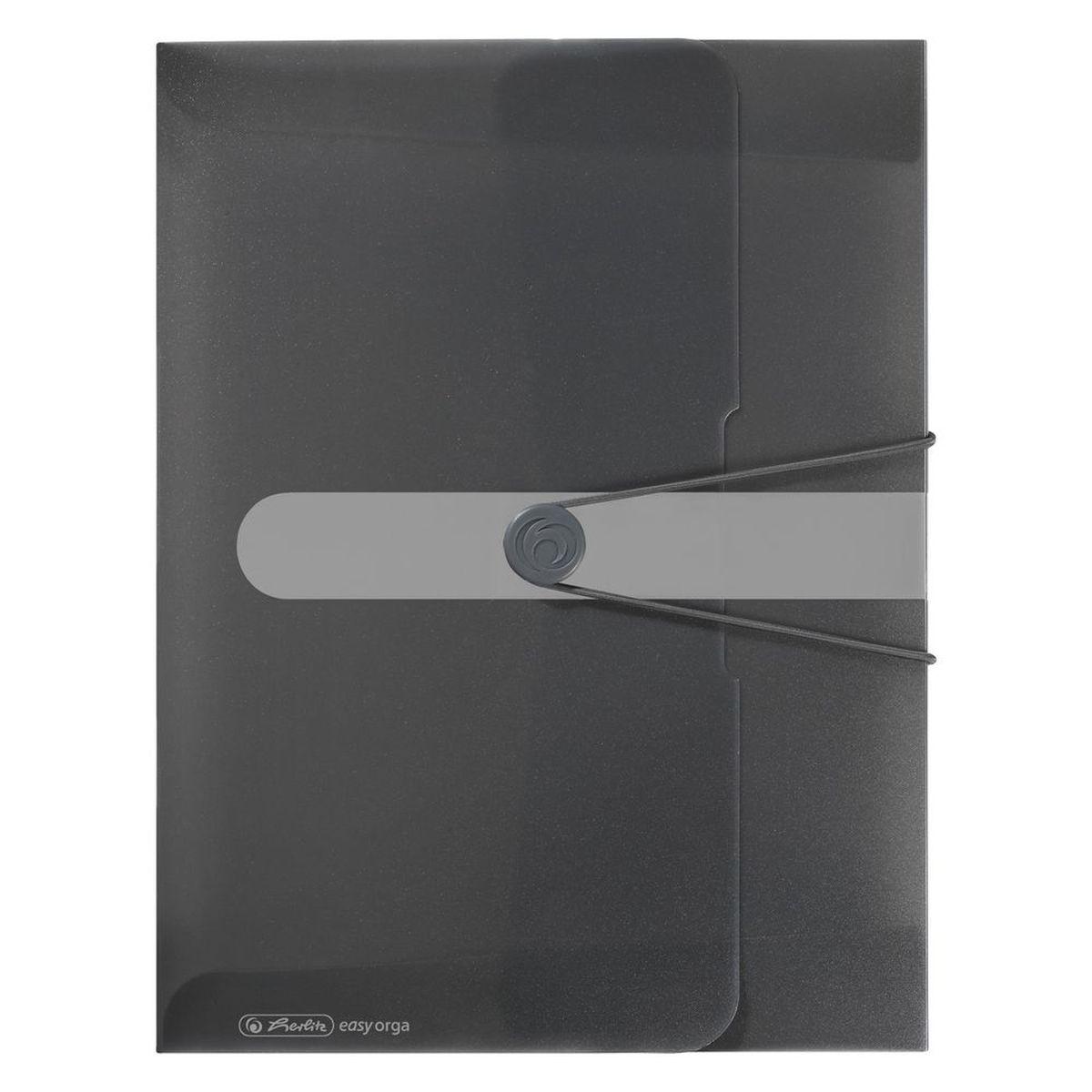 Herlitz Папка-конверт Easy orga to go цвет серый11206166Папка-конверт Herlitz Easy orga to go станет вашим верным помощником дома и в офисе. Это удобный и функциональный инструмент, предназначенный для хранения и транспортировки больших объемов рабочих бумаг и документов формата А4. Папка изготовлена из износостойкого пластика и качественного полипропилена. Состоит из одного вместительного отделения. Закрывается папка при помощи резинки, а на корешке папки есть ярлычок. Папка - это незаменимый атрибут для любого студента, школьника или офисного работника. Такая папка надежно сохранит ваши бумаги и сбережет их от повреждений, пыли и влаги.