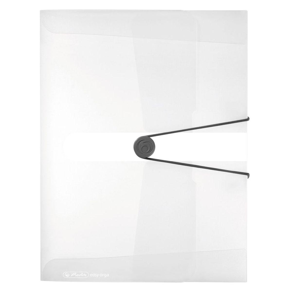 Herlitz Папка-конверт Easy orga to go цвет прозрачный11206174Папка-конверт Herlitz Easy orga to go станет вашим верным помощником дома и в офисе. Это удобный и функциональный инструмент, предназначенный для хранения и транспортировки больших объемов рабочих бумаг и документов формата А4. Папка изготовлена из износостойкого пластика и качественного полипропилена. Состоит из одного вместительного отделения. Закрывается папка при помощи резинки, а на корешке папки есть ярлычок. Папка - это незаменимый атрибут для любого студента, школьника или офисного работника. Такая папка надежно сохранит ваши бумаги и сбережет их от повреждений, пыли и влаги.