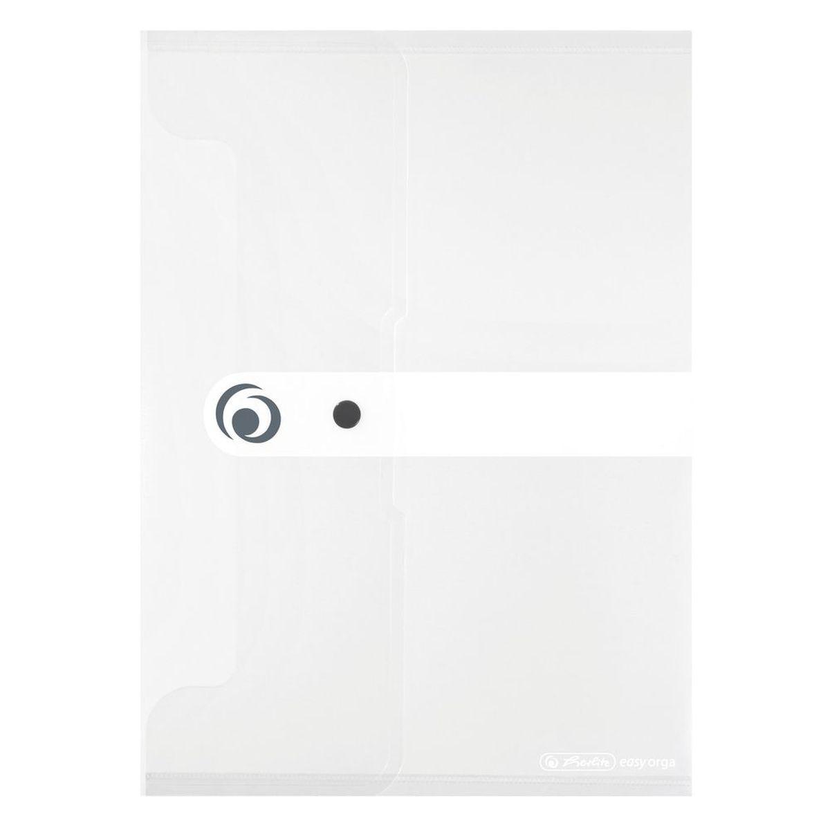 Herlitz Папка-конверт Easy orga формат A4 цвет прозрачный