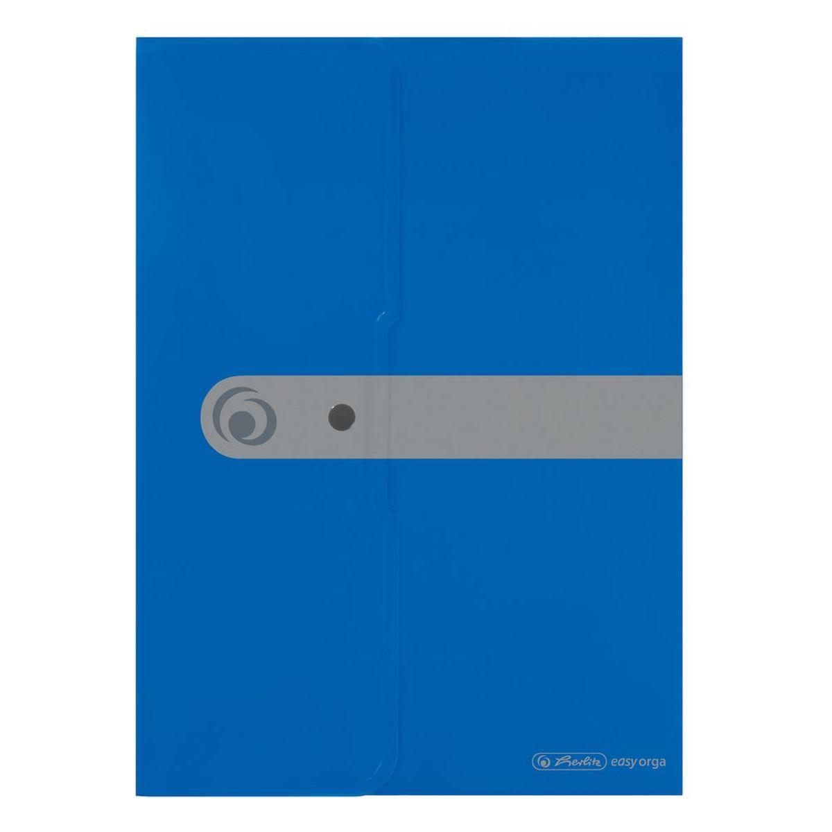Herlitz Папка-конверт Easy orga формат A4 цвет синий11206703Папка-конверт для документов Herlitz Easy orga станет вашим верным помощником дома и в офисе. Это удобный и функциональный инструмент, предназначенный для хранения и транспортировки больших объемов рабочих бумаг и документов формата А4. Папка изготовлена из качественного полипропилена. Состоит из одного вместительного отделения. Закрывается папка просто и удобно - при помощи кнопки, которая ее надежно фиксирует. Папка - это незаменимый атрибут для любого студента, школьника или офисного работника. Такая папка надежно сохранит ваши бумаги и сбережет их от повреждений, пыли и влаги.