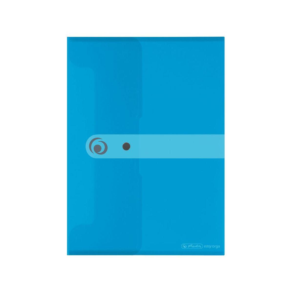 Herlitz Папка-конверт Easy orga формат A5 цвет синий11207073Папка-конверт для документов Herlitz Easy orga станет вашим верным помощником дома и в офисе. Это удобный и функциональный инструмент, предназначенный для хранения и транспортировки больших объемов рабочих бумаг и документов формата А5. Папка изготовлена из качественного полипропилена. Состоит из одного вместительного отделения. Закрывается папка просто и удобно - при помощи кнопки, которая ее надежно фиксирует. Папка - это незаменимый атрибут для любого студента, школьника или офисного работника. Такая папка надежно сохранит ваши бумаги и сбережет их от повреждений, пыли и влаги.