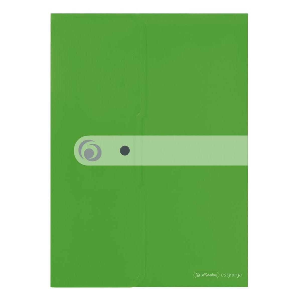 Herlitz Папка-конверт Easy orga формат A4 цвет зеленый