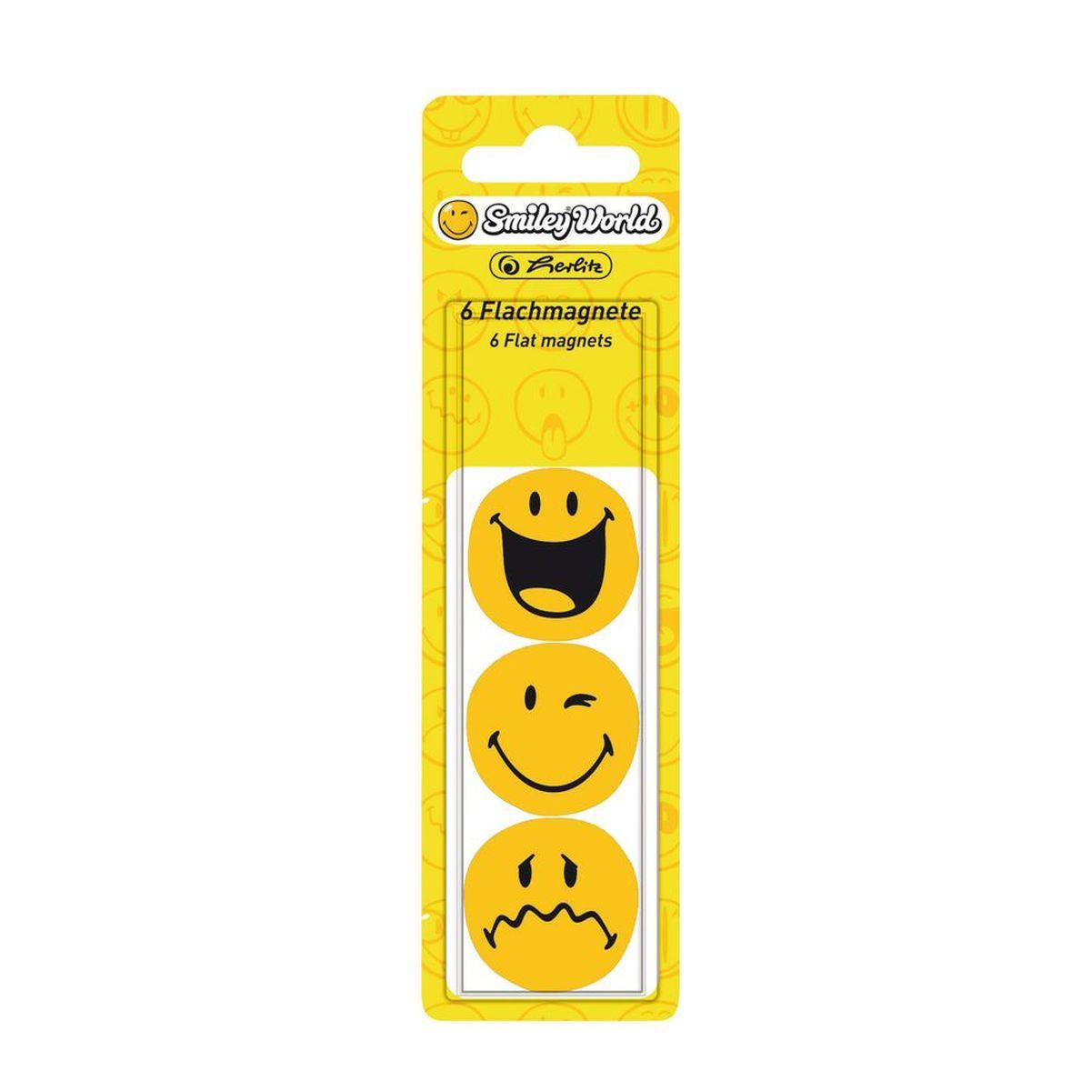 Herlitz Магнит для досок плоский SmileyWorld 6 шт