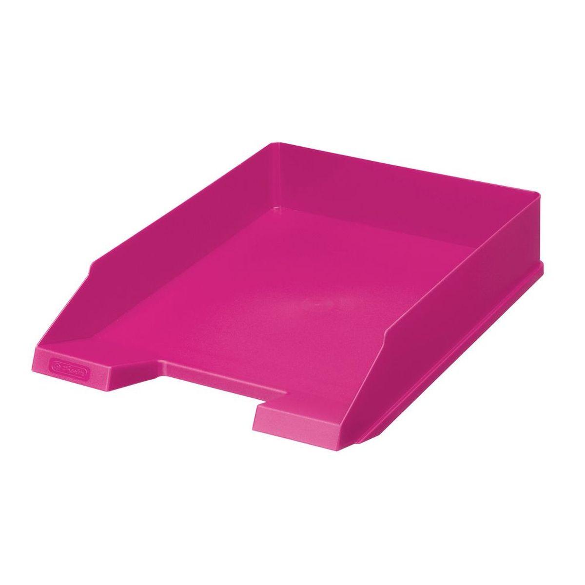 Herlitz Лоток для бумаг Colour Blocking цвет розовый