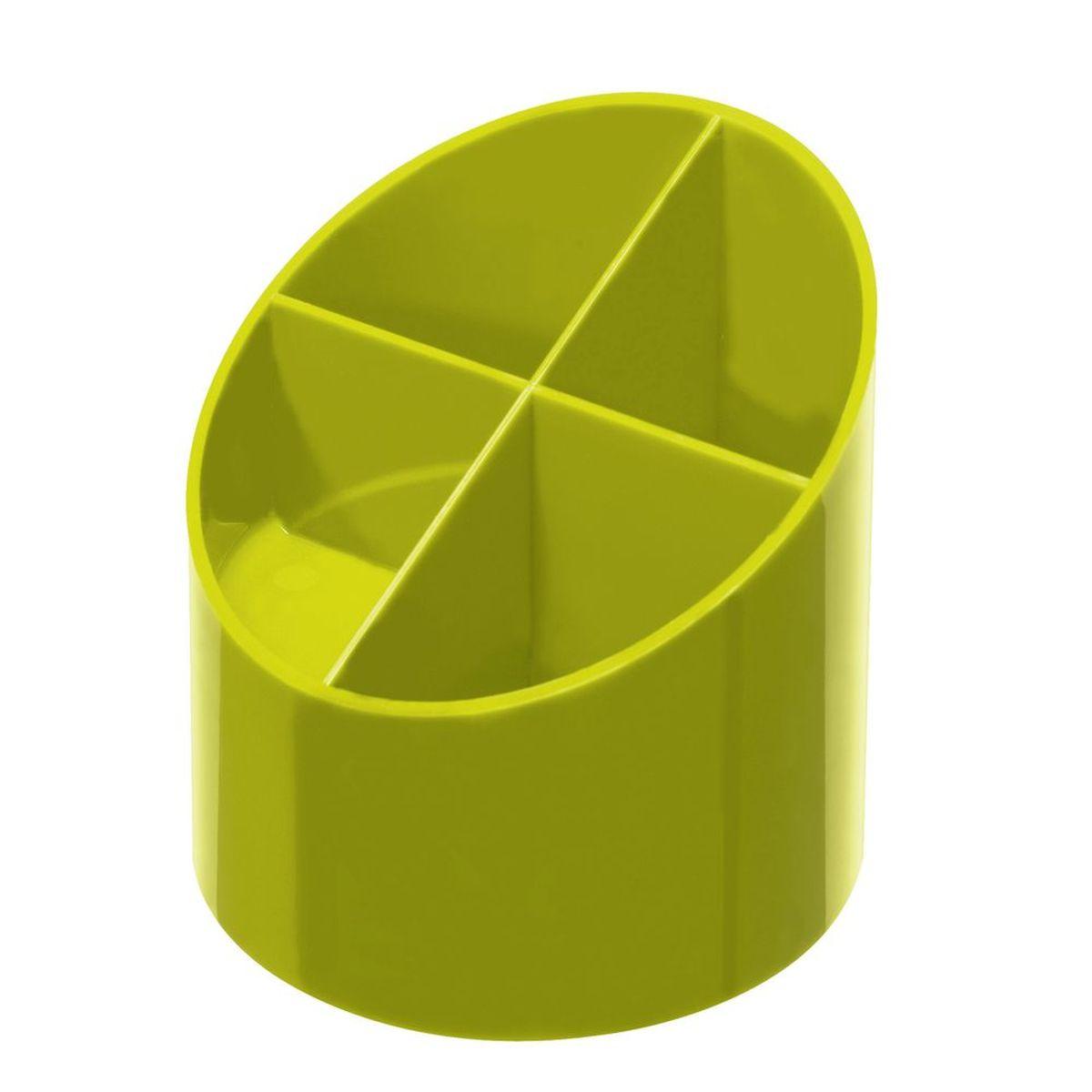 Herlitz Подставка канцелярских принадлежностей 4 секции цвет лимонный
