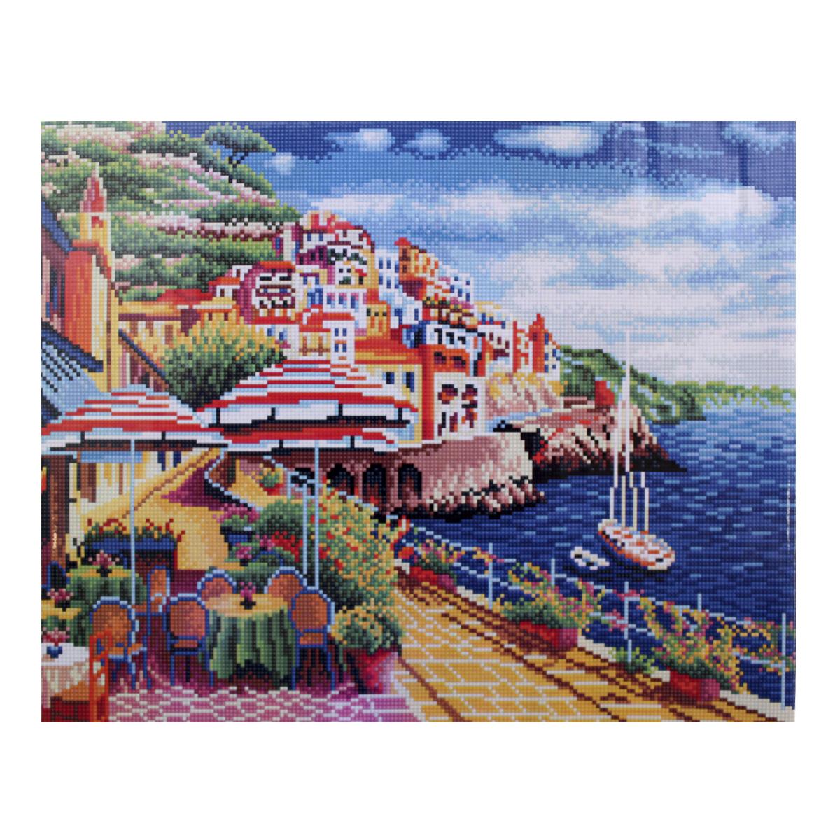 Алмазная мозаика Cristal, на деревянном подрамнике, 40 х 50 см. 77130777713077/GZ243Набор для творчества Cristal поможет вам создать свой личный шедевр - красивую картину, выполненную в мозаичной технике. Выложите прекрасную картину из множества маленьких цветных камушков. С помощью пинцета камушки размещаются на холсте, в результате проявляется рисунок. Постепенно заполняя ряд за рядом, вы создадите чудесное переливающееся изображение. Каждый камушек выполнен из прочного материала. Работа, выполненная своими руками, станет отличным подарком для друзей и близких! В набор входит: - Основа картины с нанесенной схемой на деревянной раме; - Ключи к схеме; - Комплект искусственных камней (30 цветов); - Желеобразный клей; - Пинцет; - Прозрачный клей; - Пластиковая ручка; - Пластмассовый лоток для камней; - Металлические крепления для готовой работы. Диаметр камушка: 2,5 мм. Размер готового изделия: 40 х 50 см.