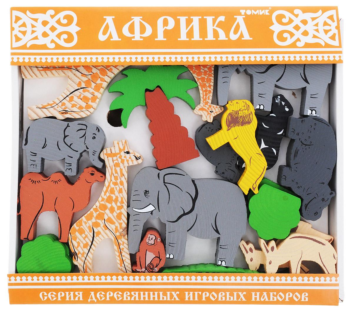 Томик Конструктор Африка7678-4_оранжевыйКонструктор Томик Африка - отличный сюжетный деревянный конструктор, который включает в себя 35 деталей. Элементы конструктора тщательно обработаны и покрыты нетоксичной краской, поэтому играть с такой игрушкой безопасно. На деталях с двух сторон нанесены рисунки, методом шелкографии. Здесь изображены следующие взрослые животные с их малышами: слоны, бегемоты, львы, жирафы, обезьяны, верблюды и другие. Малышам будет приятно держать в руках фигурки животных, они довольно крупные, на ощупь очень приятные и очень похожи на живых. Цветные элементы подарят ребенку массу положительных эмоций и помогут создать свой сказочный городок. Конструирование способствует развитию пространственного мышления, глазомера, координации и мелкой моторики рук.