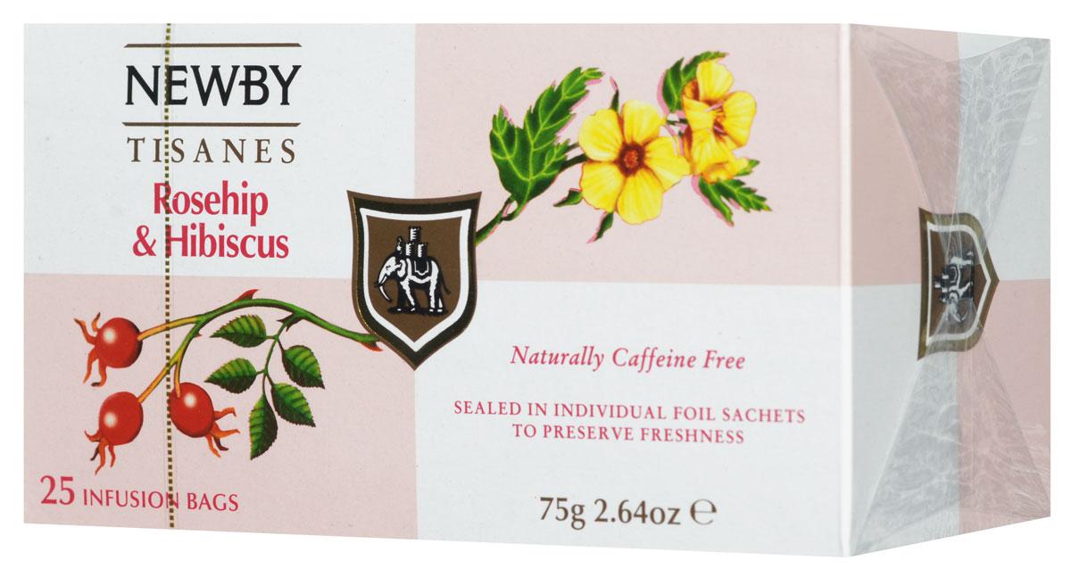 Newby Rosehip & Hibiscus фруктовый чай в пакетиках, 25 шт310160Newby Rosehip & Hibiscus - чай с ярко-красным настоем, освежающей кислинкой и великолепно сбалансированным фруктовым вкусом. Он состоит из смеси цветков гибискуса и сушеных ягод шиповника, который богат витамином С. Прозрачный настой темно-красного цвета обладает острым пикантным бодрящим вкусом.