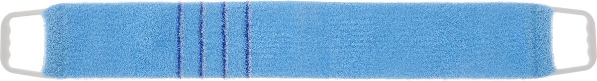 Мочалка-пояс массажная Riffi, жесткая, цвет: голубой, синий, 80 х 11 см824_голубой,синийМочалка-пояс Riffi используется для мытья тела, обладает активным пилинговым действием, тонизируя, массируя и эффективно очищая вашу кожу. Примесь жестких синтетических волокон усиливает массажное воздействие на кожу. Для удобства применения пояс снабжен двумя пластиковыми ручками. Благодаря отшелушивающему эффекту мочалки-пояса, кожа освобождается от отмерших клеток, становится гладкой, упругой и свежей. Массаж тела с применением Riffi стимулирует кровообращение, активирует кровоснабжение, способствует обмену веществ, что в свою очередь позволяет себя чувствовать бодрым и отдохнувшим после принятия душа или ванны. Riffi регенерирует кожу, делает ее приятно нежной, мягкой и лучше готовой к принятию косметических средств. Приносит приятное расслабление всему организму. Борется со спазмами и болями в мышцах, предупреждает образование целлюлита и обеспечивает омолаживающий эффект. Моет легко и энергично. Быстро сохнет. Гипоаллергенная. ...