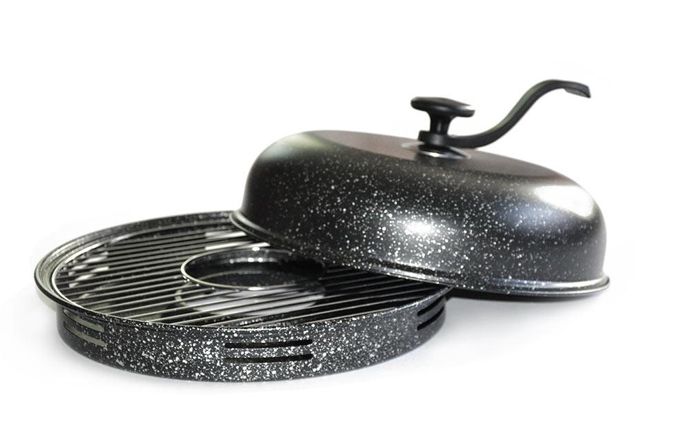 Сковорода Гриль-газ с мраморным покрытием, со съемной ручкой. D-509D-509