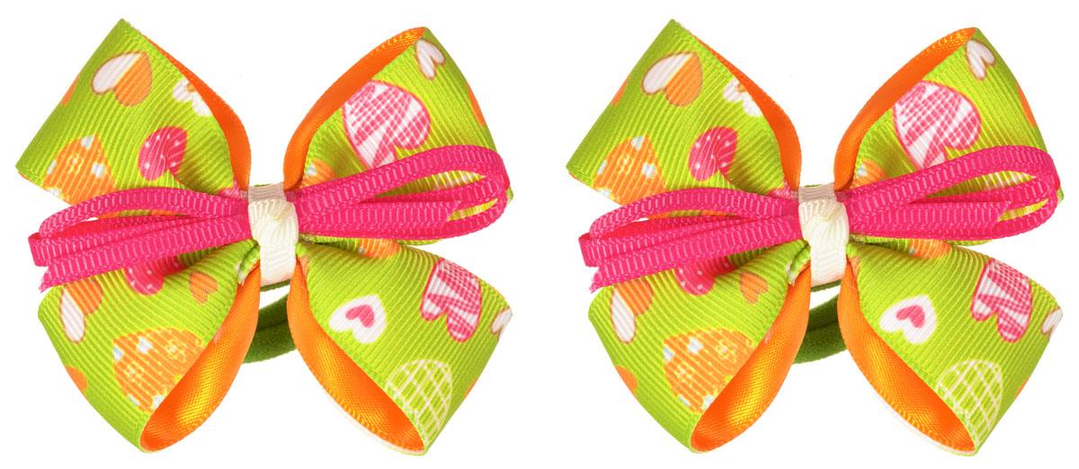 Babys Joy Резинка для волос цвет салатовый оранжевый 2 шт MN 164/2MN 164/2_салатовый, оранжевыйРезинка для волос Babys Joy выполнена в виде текстильного банта, украшенного узором с сердечками. Резинка позволит убрать непослушные волосы с лица и придаст образу немного романтичности и очарования. Резинка для волос Babys Joy подчеркнет уникальность вашей маленькой модницы и станет прекрасным дополнением к ее неповторимому стилю.