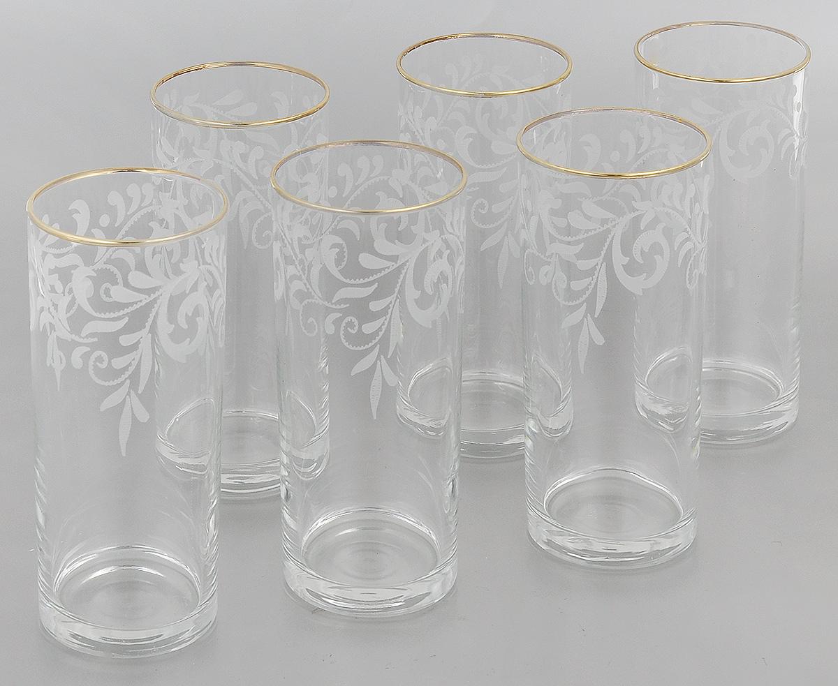Набор стаканов Гусь-Хрустальный Веточка, 350 мл, 6 штEL10-806Набор Гусь-Хрустальный Веточка состоит из 6 высоких стаканов, изготовленных из высококачественного натрий-кальций-силикатного стекла. Изделия оформлены красивым зеркальным покрытием и белым матовым орнаментом. Стаканы предназначены для подачи коктейлей, а также воды и сока. Такой набор прекрасно дополнит праздничный стол и станет желанным подарком в любом доме. Разрешается мыть в посудомоечной машине. Диаметр стакана (по верхнему краю): 6,2 см. Высота стакана: 15,5 см.