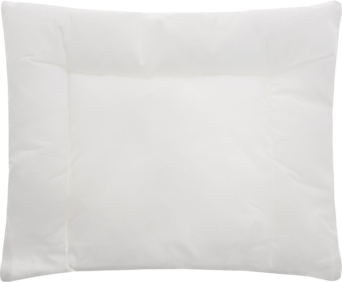 Подушка детская TAC, цвет: белый, 35 x 45 см7036BДетская подушка TAC - это низкая подушка для малышей с рождения. Белоснежный 100% хлопковый чехол не вызывает раздражения кожи, он мягкий, гигроскопичный. Гипоаллергенный наполнитель из силиконизированного волокна придает легкость в уходе, не отсыревает и не вбирает пыль. Такая подушка отлично подойдет для отдыха ребенка в кроватке и во время прогулки в коляске. Рекомендации по уходу: - Разрешена бережная машинная стирка при температуре не более 40 градусов, - Нельзя отбеливать. При стирке не использовать средства, содержащие отбеливатели (хлор), - Не гладить, - Разрашена береженая химическая чистка, - Нельзя выжимать и сушить в стиральной машине. Материал чехла: хлопок. Материал наполнителя: силиконизированное волокно. Размер подушки: 35 х 45 см.