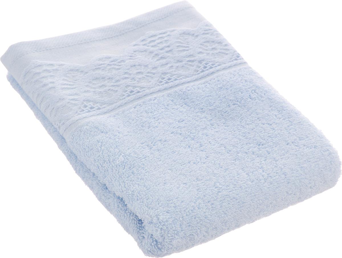 Полотенце махровое TAC Safran, цвет: голубой, 50 x 90 см