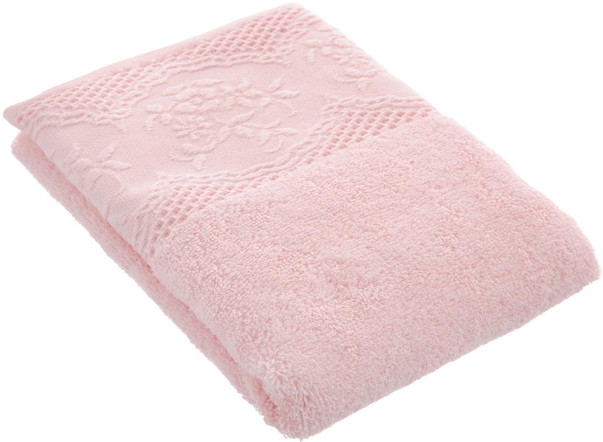 Полотенце махровое TAC Wayne, цвет: светло-розовый, 50 х 90 см1029-84555Полотенце TAC Wayne изготовлено из махровой ткани (100% хлопка). Изделие отлично впитывает влагу, быстро сохнет, сохраняет яркость цвета и не теряет форму даже после многократных стирок. Полотенце TAC Wayne приятно удивит и даст возможность почувствовать себя творцом окружающего декора. Оно создаст прекрасное настроение и украсит интерьер в ванной комнате.