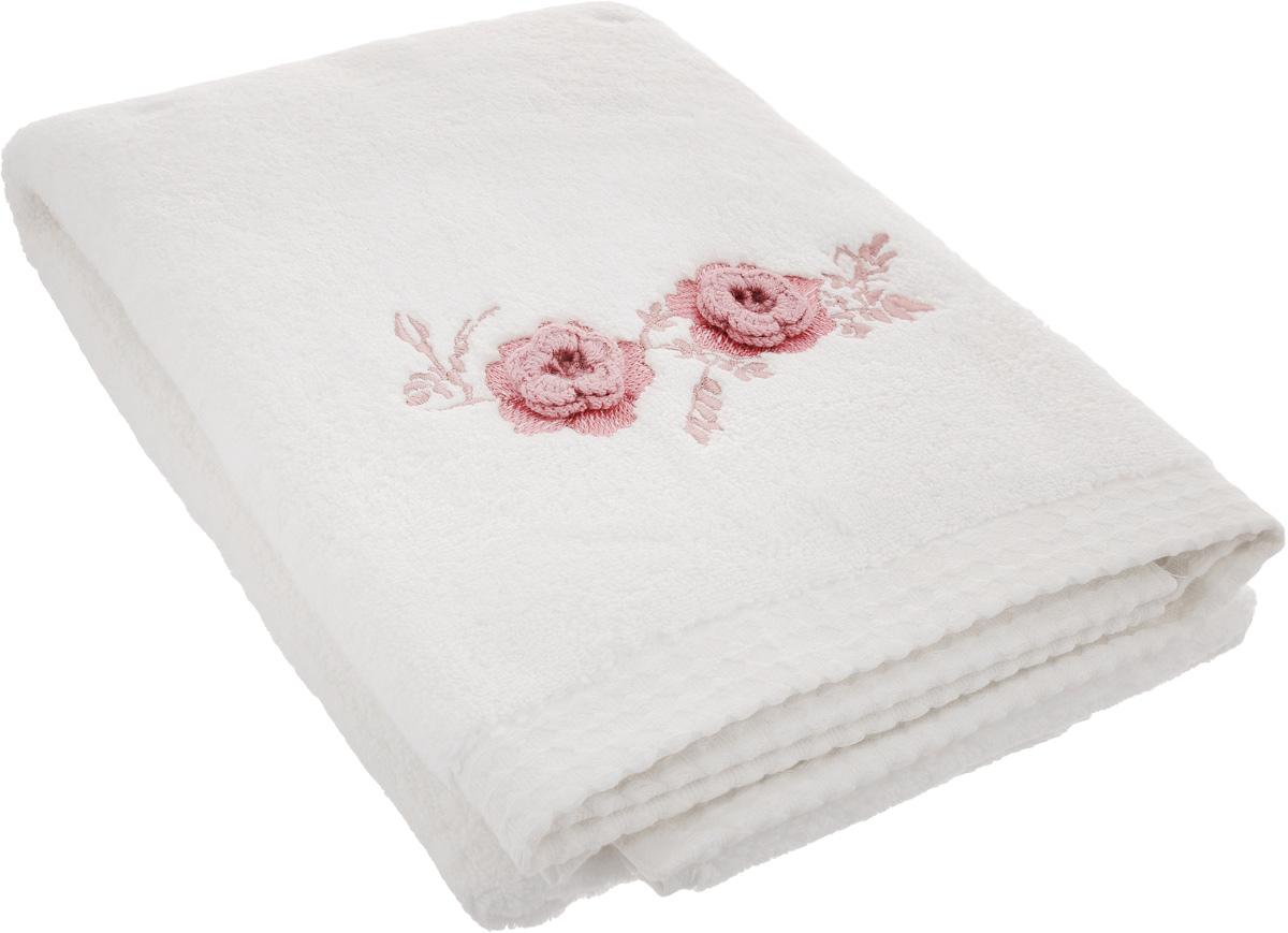 Полотенце махровое TAC Monrose, цвет: кремовый, розовый, 70 x 140 см1042-84669Полотенце TAC Monrose изготовлено из махровой ткани (100% хлопка) и декорировано изысканной вышивкой. Изделие отлично впитывает влагу, быстро сохнет, сохраняет яркость цвета и не теряет форму даже после многократных стирок. Полотенце TAC Monrose приятно удивит и даст возможность почувствовать себя творцом окружающего декора. Оно создаст прекрасное настроение и украсит интерьер в ванной комнате.