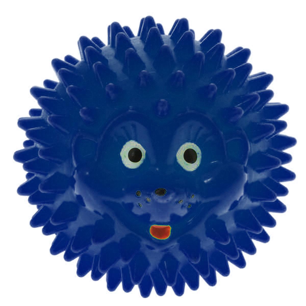 Массажер Дельтатерм Шарик-Ежик, цвет: синий, диаметр 50 мм00-00000225С помощью массажного мяча Шарик-Ежик можно самостоятельно проводить мягкий массаж ладоней, стоп и всего тела. Такой массаж способствует повышению кожно-мышечного тонуса, уменьшению венозного застоя и ускорению капиллярного кровотока, улучшению функционирования периферической и центральной нервных систем. Идеально подходит для проведения массажа у маленьких детей. Развивает мышление, координацию движений и совершенствует моторику нежных пальчиков малыша и является интересной веселой игрушкой.