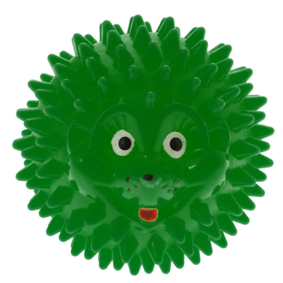 Массажер Дельтатерм Шарик-Ежик, цвет: зеленый, диаметр 50 мм00-00000225С помощью массажного мяча Шарик-Ежик можно самостоятельно проводить мягкий массаж ладоней, стоп и всего тела. Такой массаж способствует повышению кожно-мышечного тонуса, уменьшению венозного застоя и ускорению капиллярного кровотока, улучшению функционирования периферической и центральной нервных систем. Идеально подходит для проведения массажа у маленьких детей. Развивает мышление, координацию движений и совершенствует моторику нежных пальчиков малыша и является интересной веселой игрушкой.