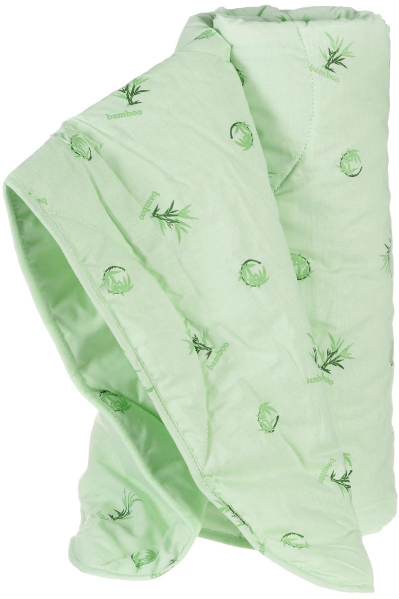 Легкие сны Одеяло детское легкое Бамбук наполнитель бамбуковое волокно 110 см x 140 см110(40)04-БВОДетское легкое одеяло Легкие сны Бамбук с наполнителем из бамбукового волокна расслабит, снимет усталость и подарит вашему ребенку спокойный и здоровый сон. Волокно бамбука - это натуральный материал, добываемый из стеблей растения. Он обладает способностью быстро впитывать и испарять влагу, а также антибактериальными свойствами, что препятствует появлению пылевых клещей и болезнетворных бактерий. Изделия с наполнителем из бамбука легко пропускают воздух, создавая охлаждающий эффект, поэтому им нет равных в жару. Они отличаются превосходными дезодорирующими свойствами, мягкие, легкие, простые в уходе, гипоаллергенные и подходят абсолютно всем. Чехол одеяла, выполненный из 100% хлопка, придает одеялу дополнительную прочность и износостойкость. При регулярном проветривании и взбивании оно прослужит достаточно долго, сохраняя лучшие качества растительного наполнителя и создавая комфортные условия для отдыха. Одеяло простегано и окантовано. Стежка...