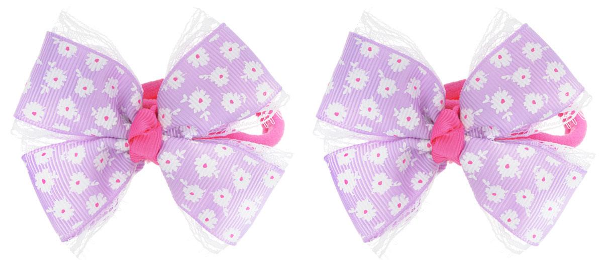 Baby's Joy Резинка для волос цвет фиолетовый 2 шт MN 136/2